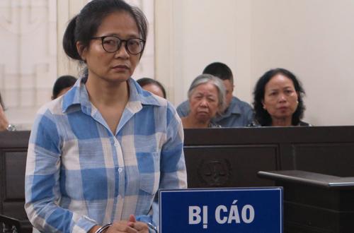 Bà Phương tại phiên tòa hôm nay.