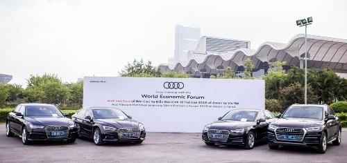 55 xe Audi được sử dụng tại Diễn đàn WEF Asean năm nay.