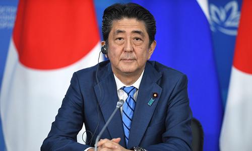 Thủ tướng Nhật Bản Shinzo Abe trong cuộc họp hôm qua tại Vladivostok, Nga. Ảnh: Tass.