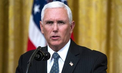 Phó tổng thống Mỹ Mike Pence phát biểu tại một sự kiện ở Nhà Trắng ngày 20/8. Ảnh: AP.