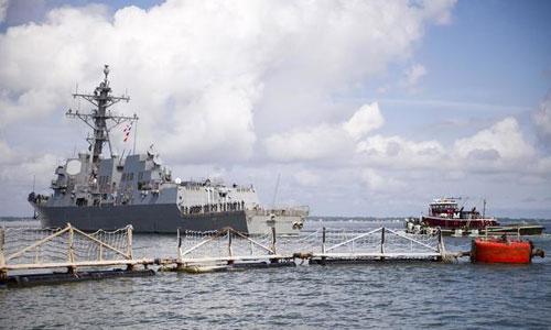 Chiến hạm USS James E. Williams rời cảng Norfolk hôm 10/9 để đề phòng bão Florence đổ bộ. Ảnh: US Navy.