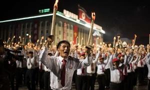 Hàng nghìn người đồng diễn đuốc kỷ niệm 70 năm quốc khánh Triều Tiên