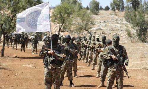 Nhóm phiến quân HTS đang kiểm soát khoảng 60% diện tích tỉnh Idlib. Ảnh: Reuters.