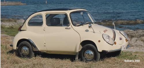 Subaru 360 - mẫu xe đầu tiên do Subaru sản xuất vào năm 1958.