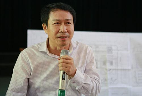 Ông Lễ Sỹ Chiến tại buổi đối thoại. Ảnh: Nguyễn Hải.
