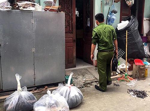 Ngôi nhà phát hiện vụ việc: Ảnh: Nguyễn Tiến.