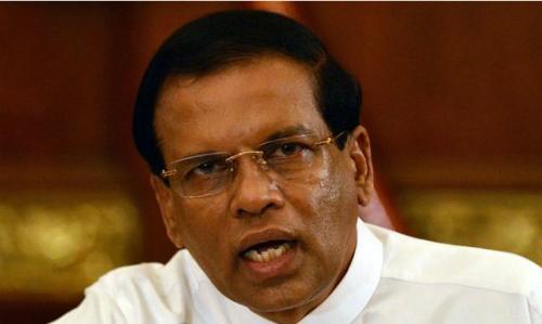 Tổng thống Sri Lanka Maithripala Sirisena. Ảnh: AFP.