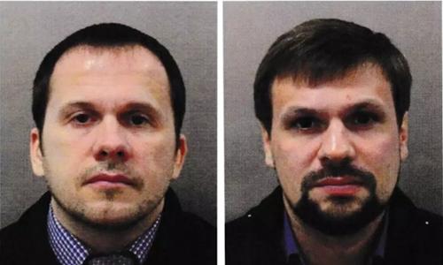 Alexander Petrov (trái) và Ruslan Boshirov. Ảnh: Guardian.