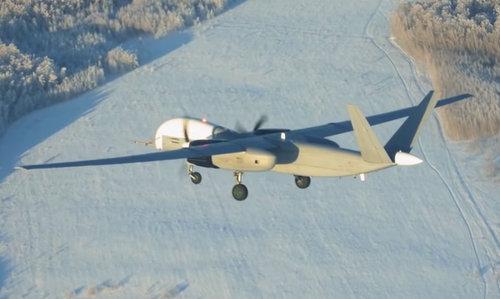 Chiếc Altair trong quá trình bay thử. Ảnh: TvZvezda.