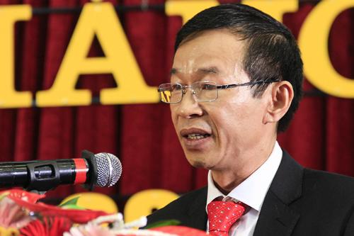 Hiệu trưởng Đại học Sư phạm Hà Nội phát biểu trong lễ khai giảng. Ảnh: Dương Tâm