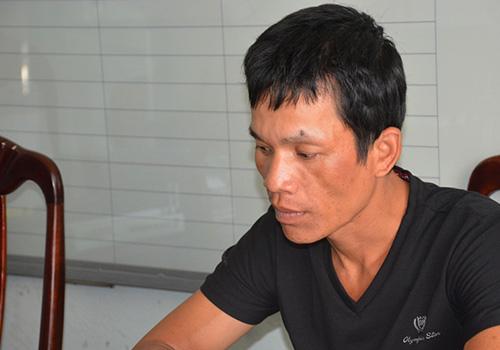 Nguyễn Văn Trình tại cơ quan công an. Ảnh: C.A.