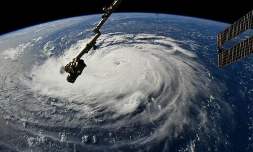 Siêu bão Florence nhìn từ không gian hôm 10/9. Ảnh: NASA.