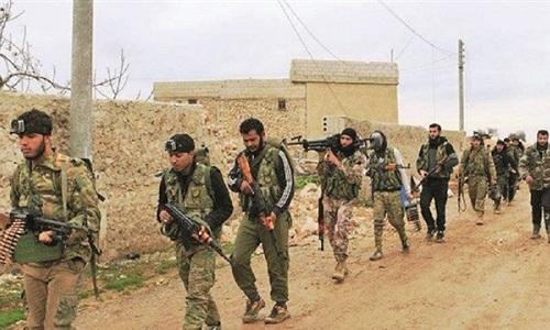 Các tay súng nổi dậy ở miền bắc Syria. Ảnh: Yeni Safak.