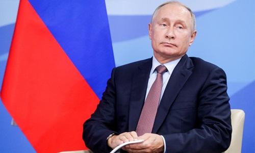 Tổng thống Nga Vladimir Putin tại một sự kiện trong khuôn khổ Diễn đàn Kinh tế phương Đông ở Vladivostok ngày 11/9. Ảnh: Reuters.