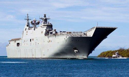 HMAS Canberra tới quần đảo Hawaii hồi giữa năm nay. Ảnh: US Navy.