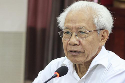 Giáo sư Hồ Ngọc Đại, chủ biên sách Tiếng Việt lớp 1 Công nghệ giáo dục, người sáng lập trường Thực nghiệm. Ảnh: Dương Tâm