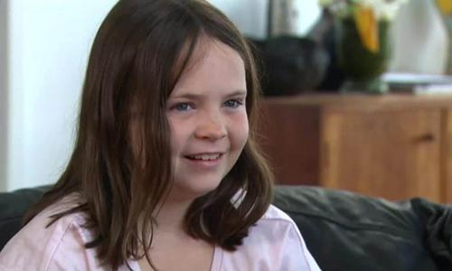 Harper Nielsen, 9 tuổi, học sinh trường tiểu học Kenmore South State ở bang Queensland, Australia. Ảnh: Nine News.