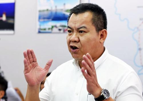 Ông Nguyễn Tâm Tiến - Tổng giám đốc Tập đoàn Trung Nam. Ảnh: Quỳnh Trần