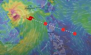 Đường đi với sức gió 200 km/h của siêu bão Mangkhut