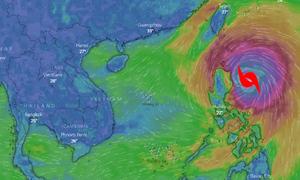 Siêu bão Mangkhut được dự báo sẽ quét qua nhiều nước