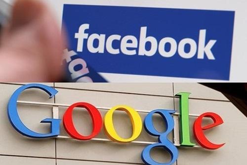 Biểu tượng Facebook và Google. Ảnh: Reuters.