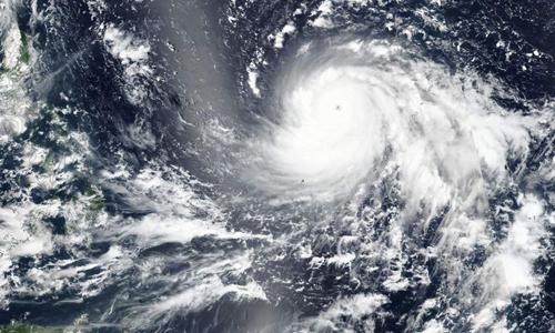 Ảnh vệ tinh siêu bão Mangkhut được chụp ngày 13/9. Ảnh: NASA.