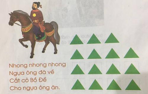 Học sinh được tự do chọn hình khối, màu sắc để biểu thị cho các tiếng, theo phương pháp đánh vần của Tiếng Việt lớp 1 Công nghệ giáo dục.