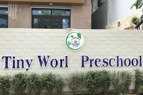 Trường mầm non Tiny World ở phường Đại Kim, quận Hoàng Mai (Hà Nội). Ảnh: D.T