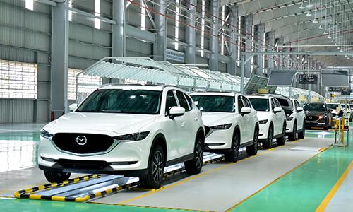 Mazda CX-5 lắp ráp tại nhà máy ở Chu Lai của Trường Hải.