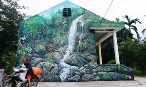 Làng bích họa ở miền núi Quảng Ngãi