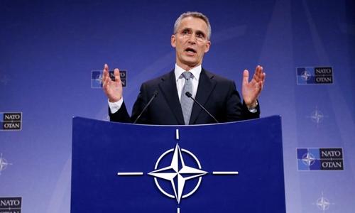 Tổng thư kí NATOJens Stoltenberg. Ảnh:AFP.