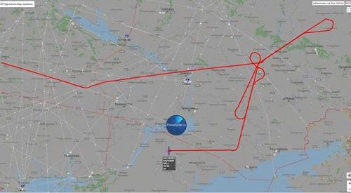 Hành trình của trinh sát cơ Mỹ ngày 15/9. Đồ họa: Sputnik.
