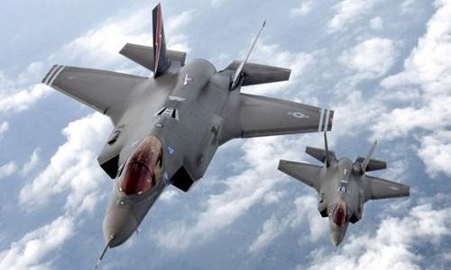 Hai tiêm kích F-35 của không quân Mỹ. Ảnh: US Air force.