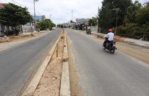 Tuyến đường ĐT 603A nối ĐT 607 đi qua dự án của công ty Bách Đạt An thực hiện. Ảnh: Đắc Thành.
