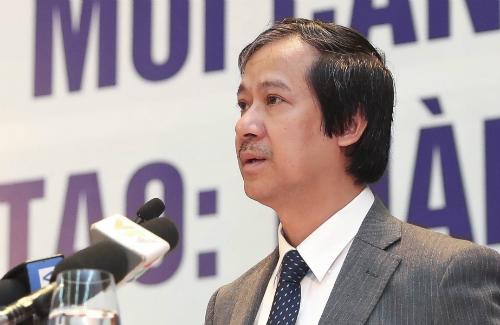 Giám đốc Đại học Quốc gia Hà Nội phát biểu tại hội thảo. Ảnh: VNU
