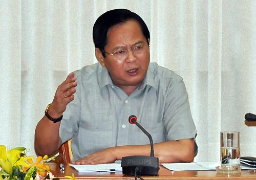 Ông Nguyễn Hữu Tín trong buổi làm việc năm 2014.
