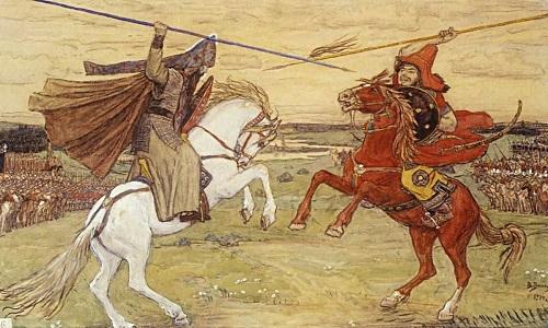 Tranh minh họa binh sĩ Nga và Mông Cổ giao tranh trong trận Kilikovo. Ảnh: Wikipedia.