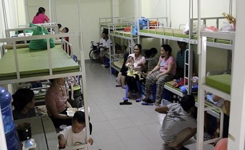 Căn phòngViện Nhi Trung ương hỗ trợngười bệnh. Ảnh: Gia Chính