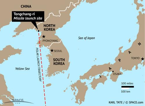 Bãi thử Tongchang-ri của Triều Tiên. Ảnh: Space.com.