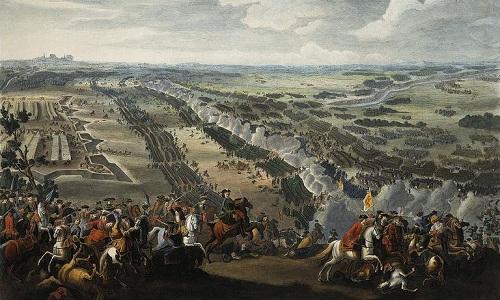 Tranh minh họa trận Poltava. Ảnh: Wikipedia.