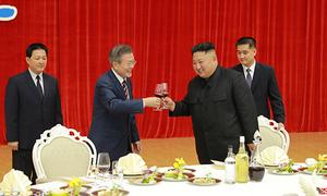 Dấu ấn trong ngày đầu cuộc gặp Moon - Kim ở Bình Nhưỡng