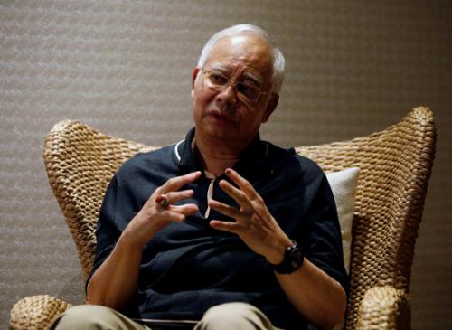 Cựu tổng thống Najib trong cuộc phỏng vấn với Reuters hôm 19/6/2018 tại Malaysia. Ảnh: Reuters.
