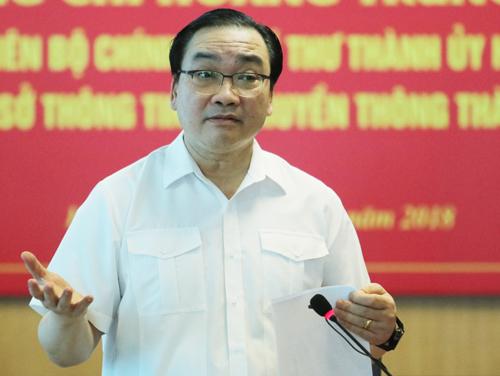 Bí thư Thành uỷ Hà Nội Hoàng Trung Hải. Ảnh: Võ Hải.