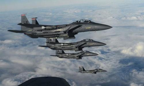 Phi đội tiêm kích F-15D Mỹ có thể được cử tham gia diễn tập Clear Sky. Ảnh: USAF.