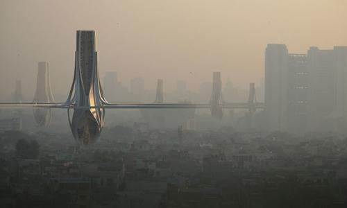 Ý tưởng xây hệ thống tháp lọc không khí tại New Delhi. Ảnh: CNN.