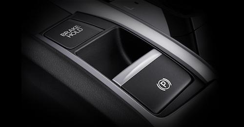 Phanh tay điện tử kèm tính năng giữ phanh tự động.