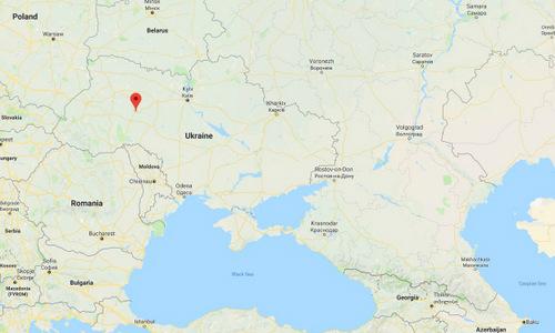 Vị trí căn cứ không quân Starokostiantyniv. Đồ họa: Google Maps.