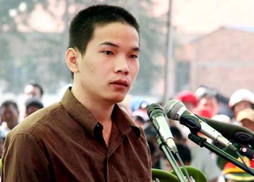 Vũ Văn Tiến tại phiên tòa phúc thẩm năm 2017. Ảnh:Phước Tuấn.