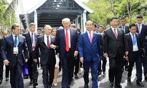 Chủ tịch nước Trần Đại Quang cùng các lãnh đạo thế giới tại Đà Nẵng