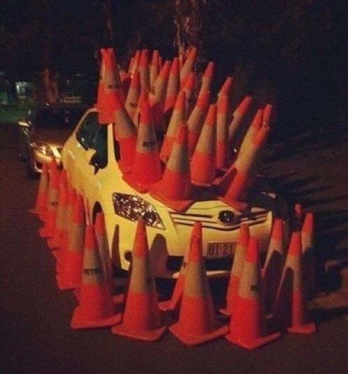 Xe hơi cũng mọc sừng.
